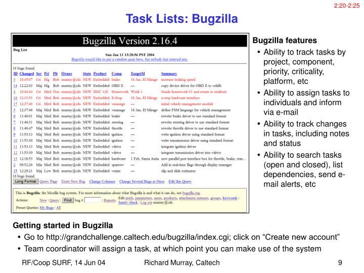 Getting started in Bugzilla