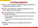 avoiding plagiarism1