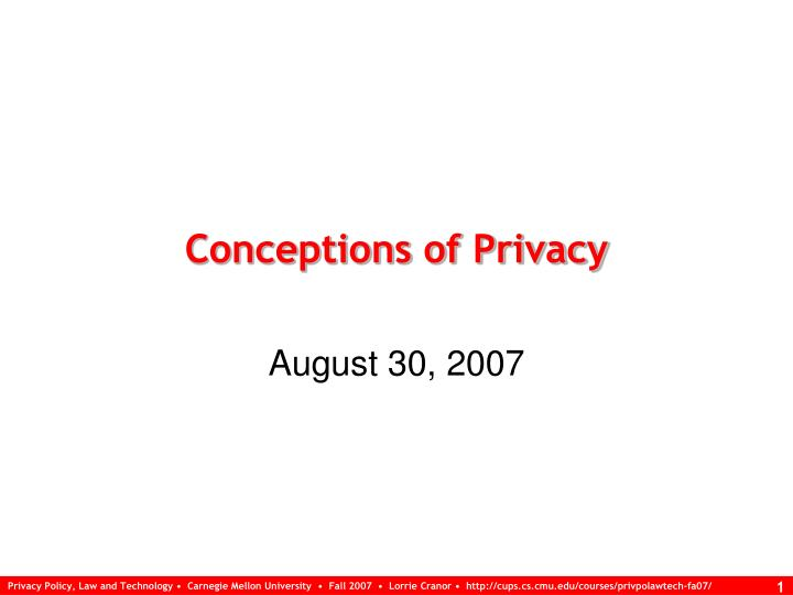 conceptions of privacy n.