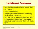 limitations of e commerce