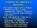 costos de origen a destino