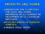 proyecto arq daher