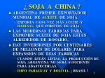 soja a china
