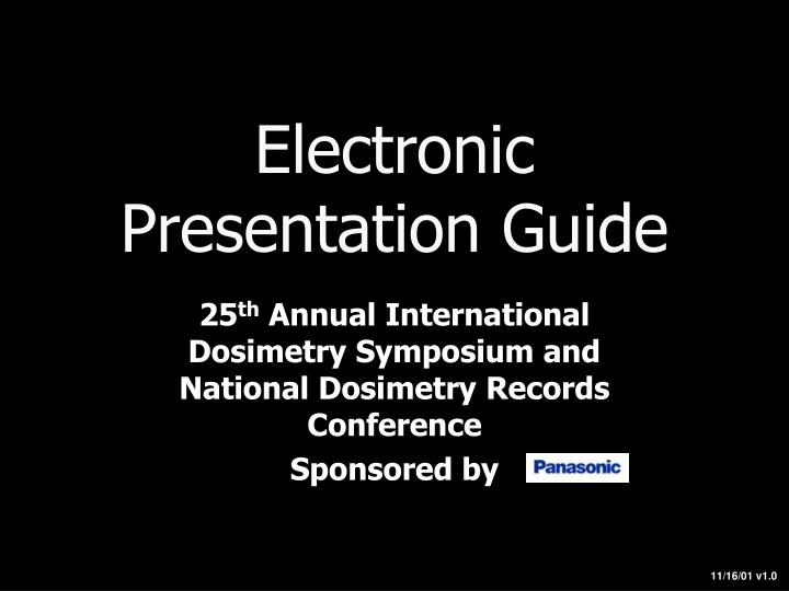 electronic presentation guide n.