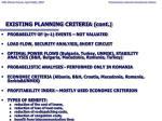existing planning criteria cont