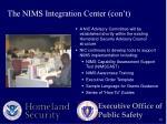 the nims integration center con t
