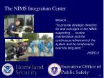 the nims integration center