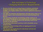 role and impact of technology changing work force requirements