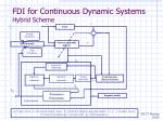 fdi for continuous dynamic systems hybrid scheme