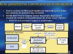 une plateforme commune de distribution