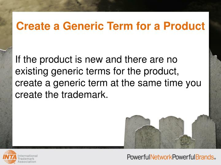Create a Generic Term for a Product