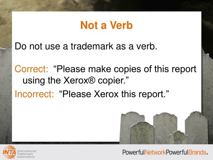 Not a Verb