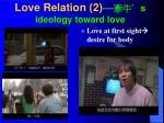 love relation 2 s ideology toward love