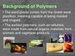 background of polymers1