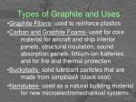 types of graphite and uses