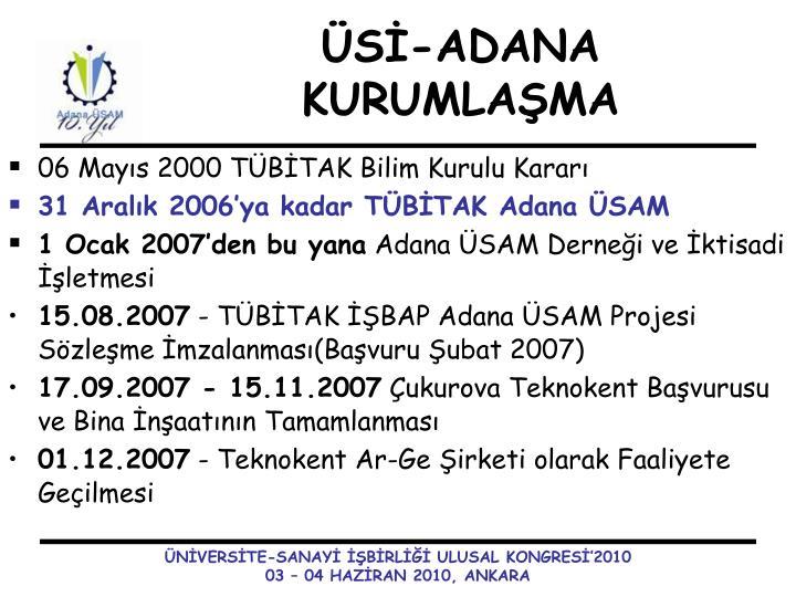 06 Mayıs 2000 TÜBİTAK Bilim Kurulu Kararı