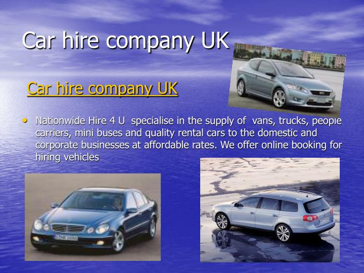 car hire company uk n.
