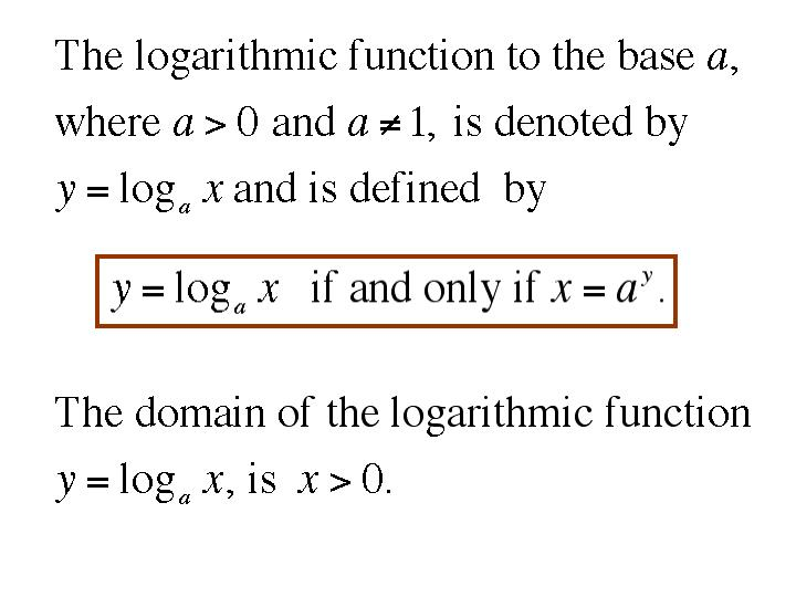 6 3 logarithmic functions