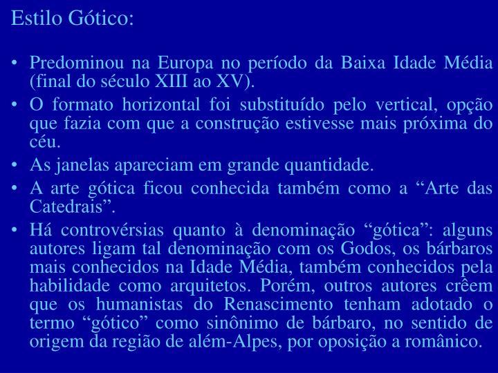Estilo Gótico: