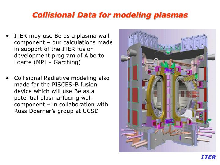 Collisional Data for modeling plasmas