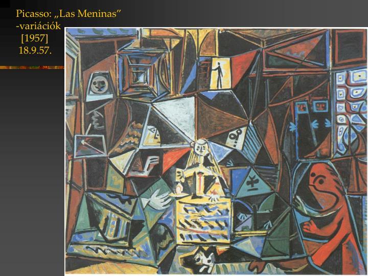 """Picasso: """"Las Meninas"""""""