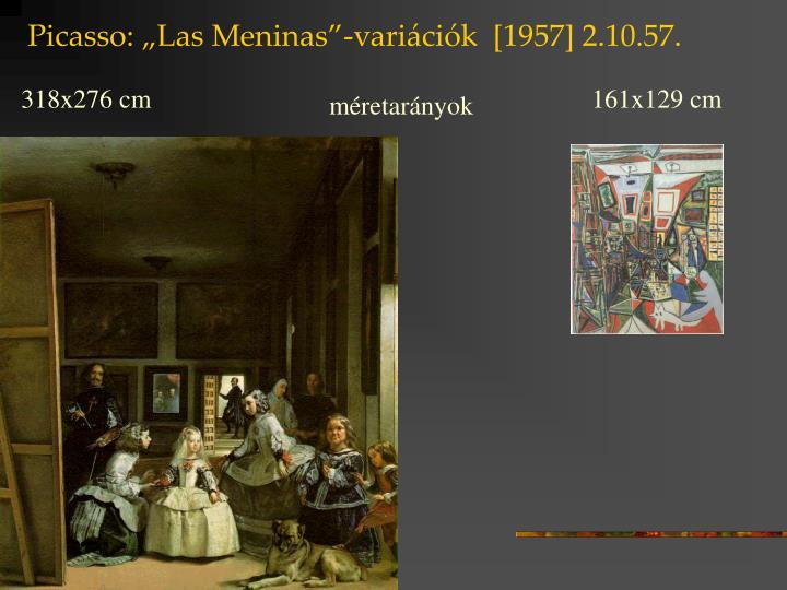 """Picasso: """"Las Meninas""""-variációk  [1957] 2.10.57."""