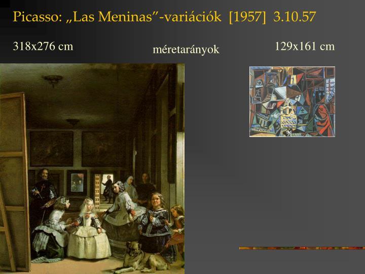 """Picasso: """"Las Meninas""""-variációk  [1957]  3.10.57"""