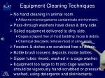 equipment cleaning techniques