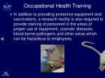 occupational health training