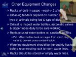 other equipment changes