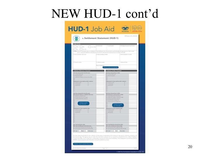 NEW HUD-1 cont'd
