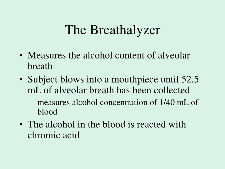The Breathalyzer