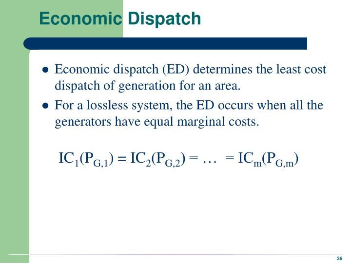 Economic Dispatch