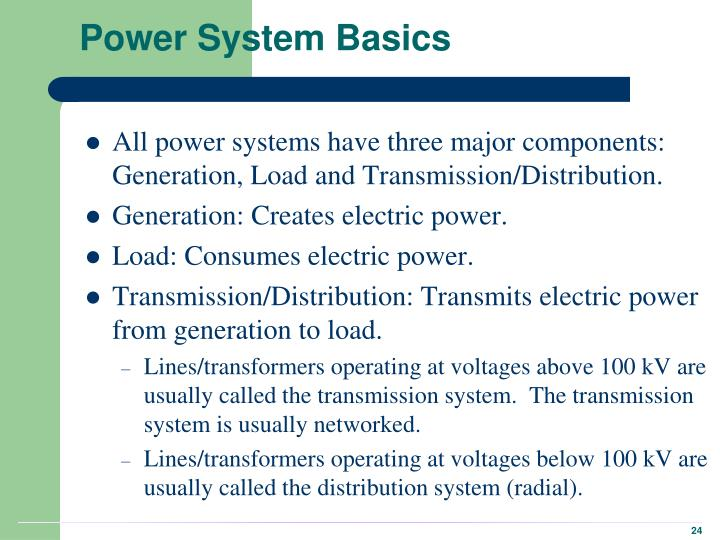 Power System Basics