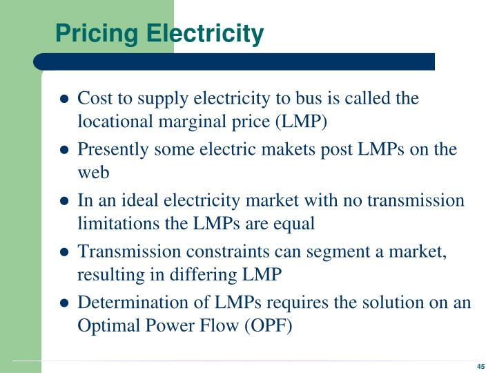 Pricing Electricity
