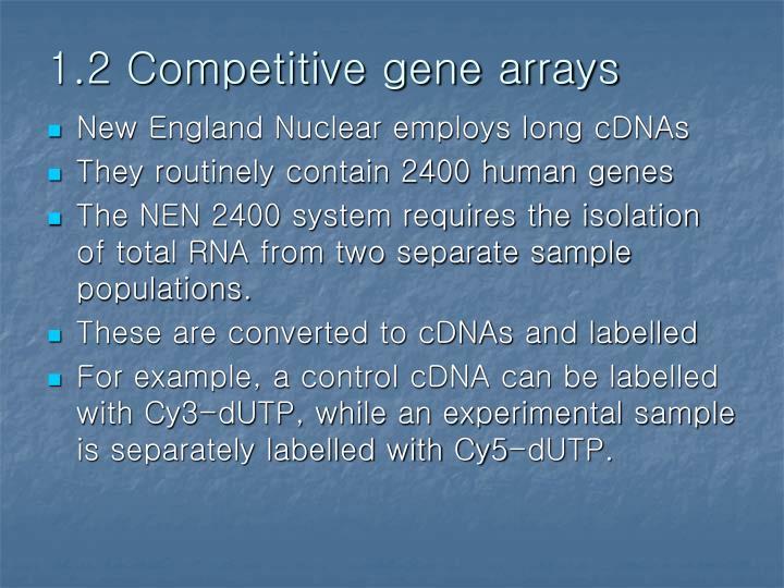 1.2 Competitive gene arrays