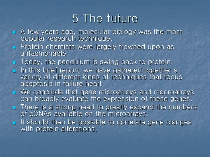 5 The future