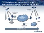 cspp is being used by the eumetsat atovs retransmission service ears for suomi npp