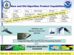 new and old algorithm product capabilities