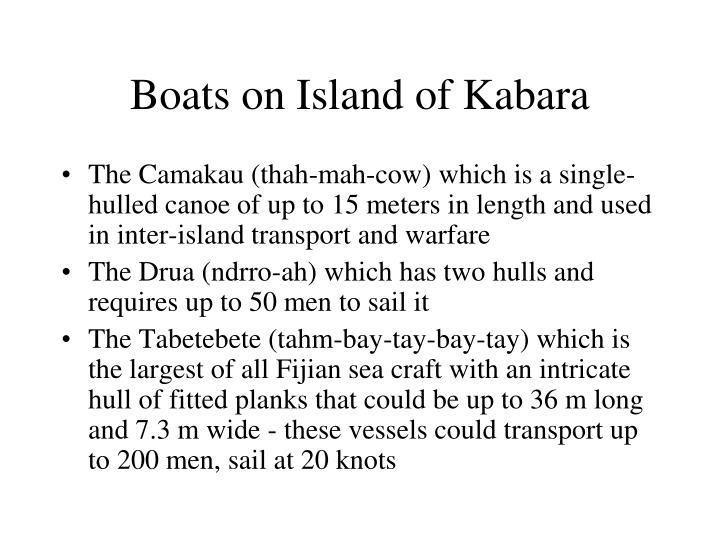 Boats on Island of Kabara