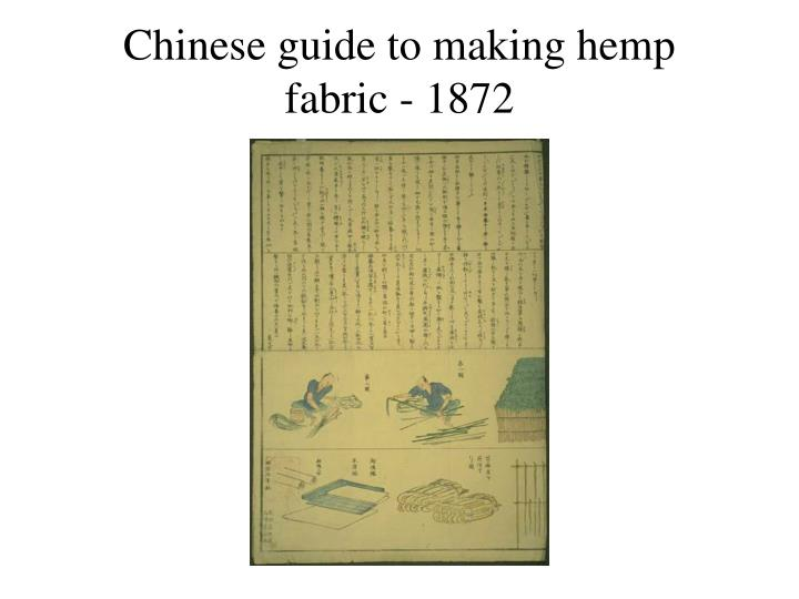 Chinese guide to making hemp fabric - 1872