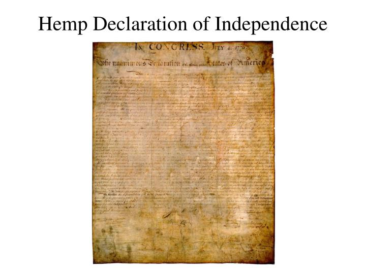 Hemp Declaration of Independence