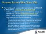 nouveau format office open xml