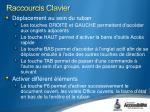 raccourcis clavier3