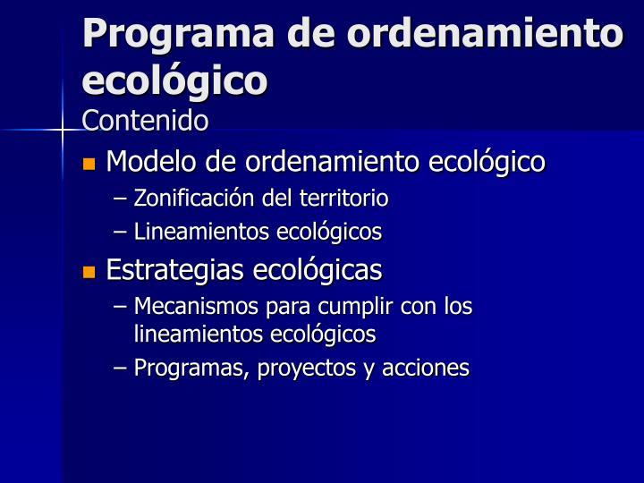 Programa de ordenamiento ecológico