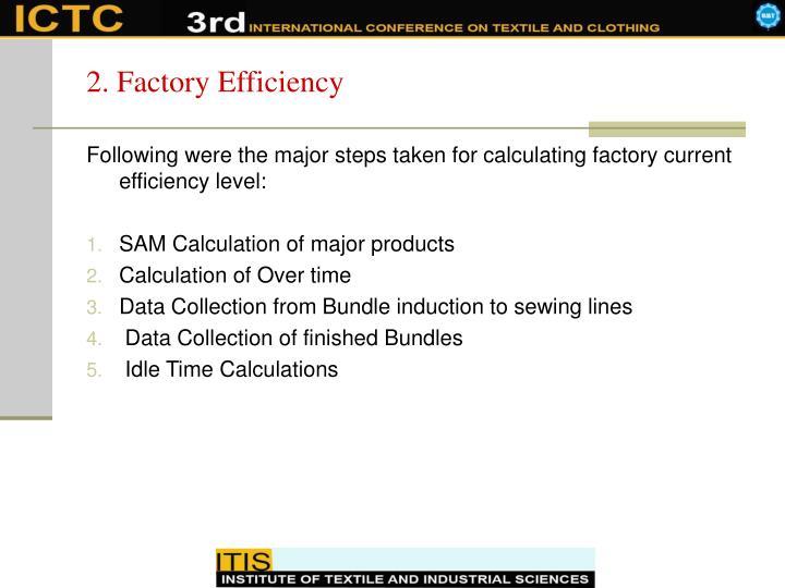 2. Factory Efficiency
