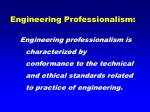 engineering professionalism