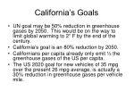 california s goals