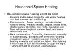 household space heating
