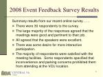 2008 event feedback survey results